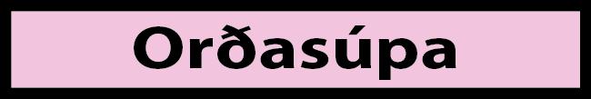 Í sól - orðasúpa