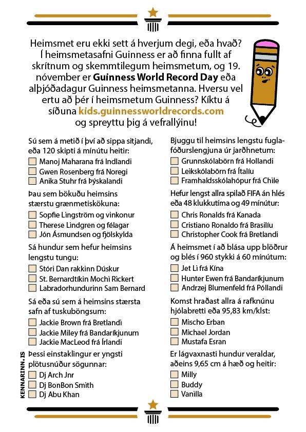 Heimsmetadagur Guinness