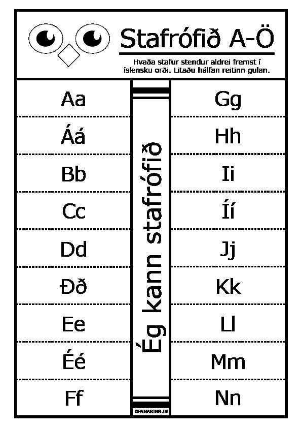 Stafaröðin