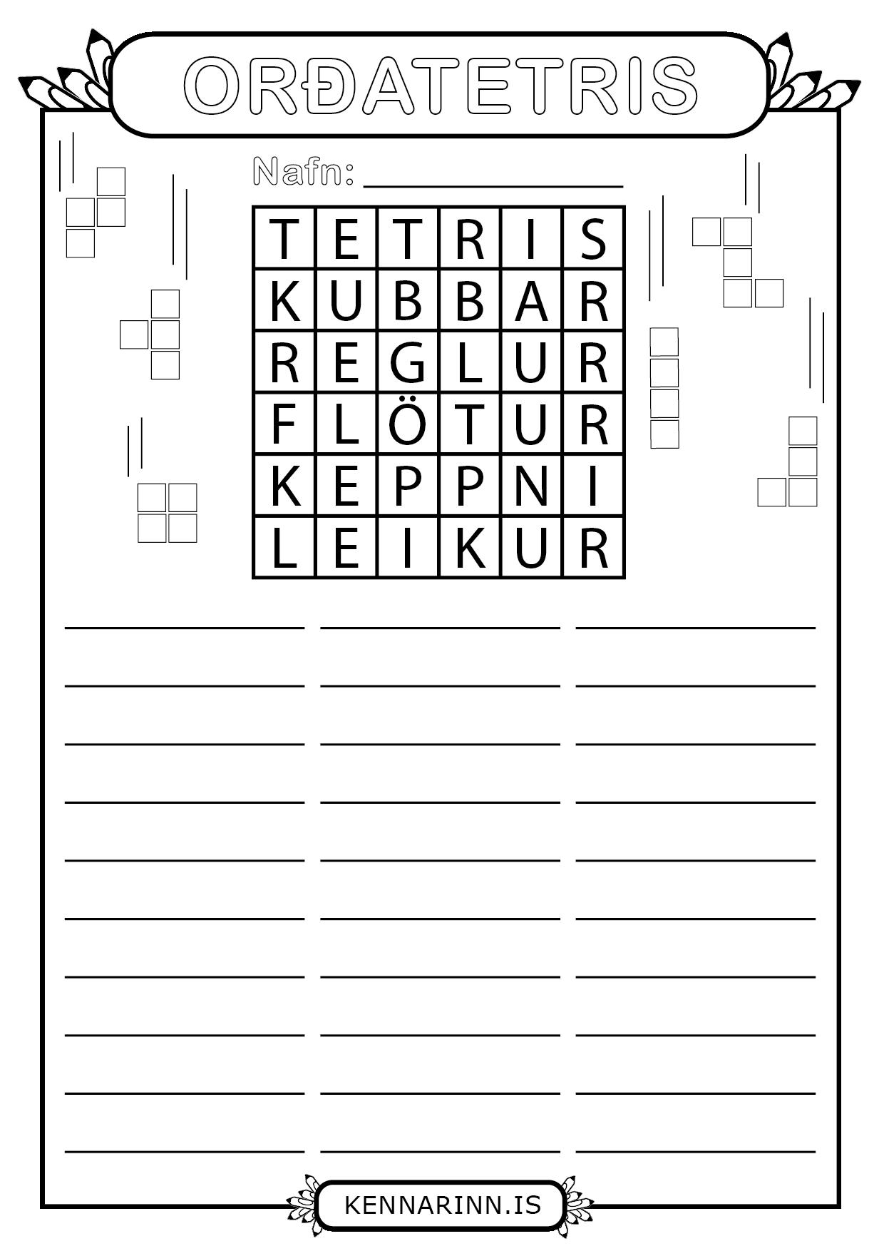Orðatetris