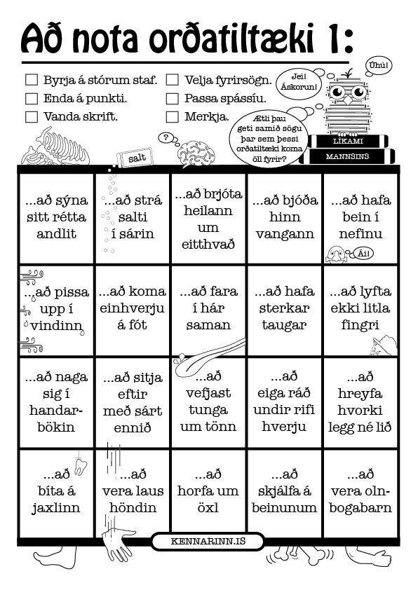 Að nota orðatiltæki 1