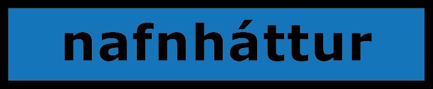 sagnorð - nafnháttur