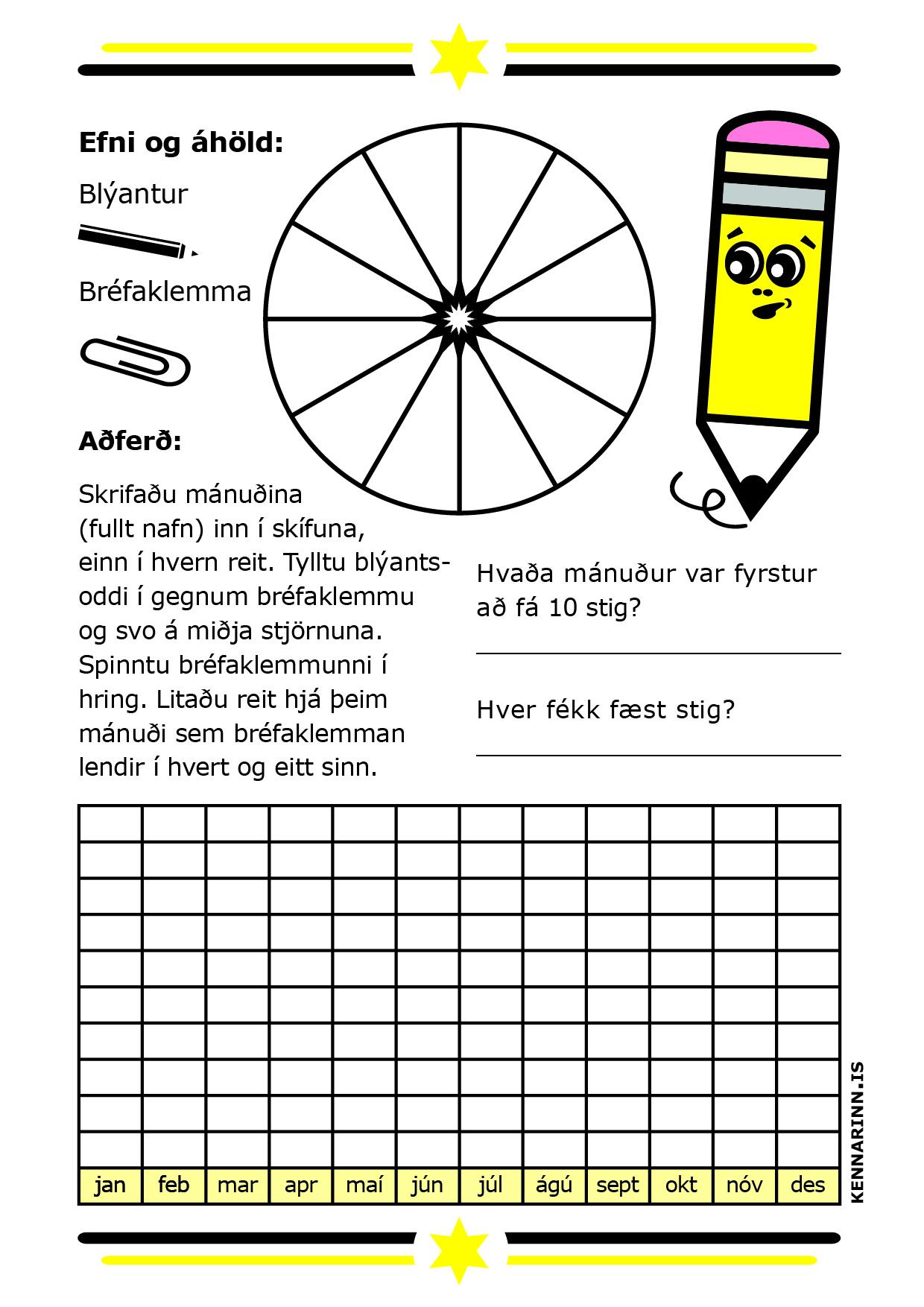 Mánuðirnir